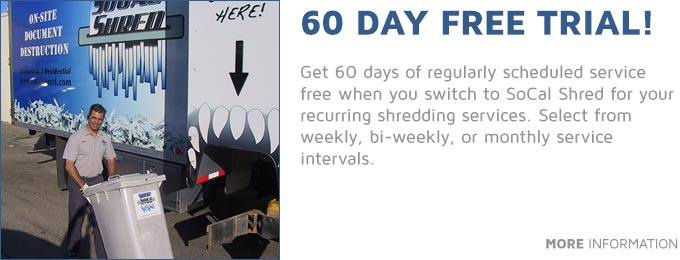 60 Days Free Shredding!